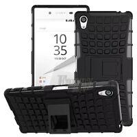 Black Heavy Duty Armor Hybrid Hard Case Cover For Sony Xperia Z5 Premium,E6883
