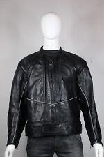 Vanson mark 2 night challenger leather jacket 54  motorcycle black
