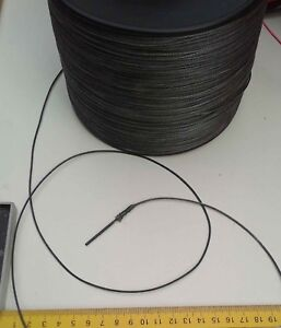 2mm X 10m Black Dyneema® SK78 Fiber Synthetic Fishing Winch Marine rope 420kg
