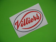 VILLIERS Oval Motorcycle sticker/decal x2
