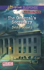 The General's Secretary (Love Inspired Suspense (Large Print))-ExLibrary