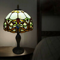 Tiffany Antique Style Hand Crafted Stained Glass Table Bedside Home Decor Lamp
