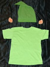 Link From Zelda Shirt, Ears & Hat Halloween Costume Kids Boys Size: 6-8 S Youth