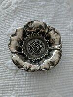 "Antique Sterling Silver Poppy Nut Dish 3"""
