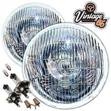 "AC Cobra Replica's 7"" Domed Sealed Beam Halogen Conversion Headlights + Bulbs"