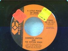 "SHERWIN LINTON ""A LITTLE PEACE OF MIND / LIVIN MY LIFE WITH A CHEATER"" 45 NEAR M"