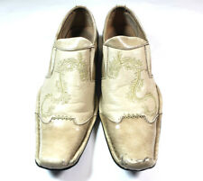 Bravo Buckeye Square Tip Dragon Slip On Leather Shoes Loafers Men's Size 10.5