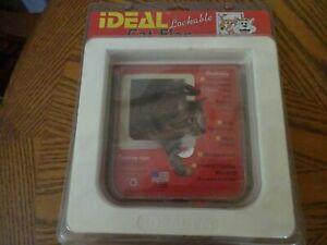 """NEW IDEAL LOCKABLE CAT FLAP PET DOOR  4 WAY WEATHERPROOF- 6 1/4""""X6 1/4"""" OPENING"""
