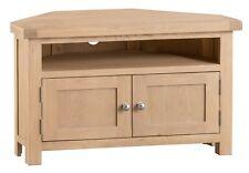 Navas Oak Corner TV Unit / Solid Wood Media Cabinet / Television Stand