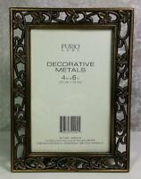 "Furio Home Frame Photo Size 4"" x 6"" Decorative Metals Floral Design Tabletop"