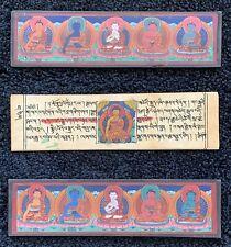 Antique Buddhist Woodblock Manuscript ~ Illustrated