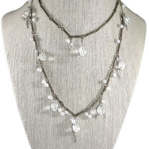 Silpada N2732 Sterling Silver Pearl Party Time Long Necklace .925 Glass Brass