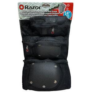 Razor Multi Sport Elbow/Knee Pads & Wrist Guards Ages 14+ Adult Nylon NIP 2006