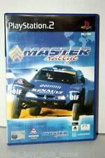 MASTER RALLYE GIOCO USATO SONY PS2 EDIZIONE ITALIANA MANUALE MANCANTE GS1