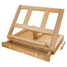 Stroke Art Sip Paint Wooden Easel Desk Stand Drawing Sketch Pad Palette Drawer