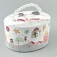 Oval Fairy and Unicorn Musical Jewellery Box by Floss and Rock Girls Gift