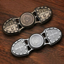Stainless Brass caesar Crusader EDC hand spinner Kasfly fidget Focus Toy Gift