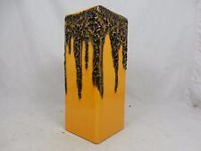 Rare dark yellow & black 70´s  WGP design FOHR Fat Lava Keramik Vase 341 - 25
