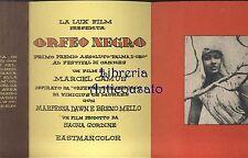 ORFEO NEGRO BELLISSIMA BROCHURE PUBBLICITARIA 1959 MONTECATINI TERME INVITO