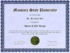 Doctor Nail Design Diploma Nail Art Manicure Polish