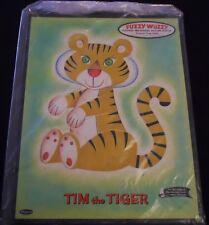 LOT 2 Vintage Whitman Fuzzy Wuzzy Frame Tray Puzzles Tim Tiger 1961 & 1962