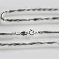 2.5mm Solid 925 Sterling Silver Heavy Round Snake Chain Necklace Anklet Bracelet