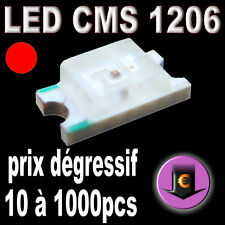 180# LED CMS 1206 Rouge 180mcd de 10 à 1000pcs