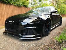 For Audi C7 4G RS6 Style Front Bumper performance spoiler splitter side flaps