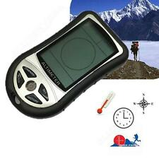 8in1 LCD Compass Altimeter Temperature Barometer Thermo Clock Calendar Fr Hiking