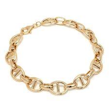 "7.5"" Technibond High Polished Mariner Gucci Bracelet 14K Yellow Gold Clad Silver"