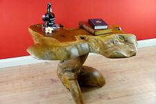 Tavolino da salotto massiccio teak RADICA Legno DIVANO TAVOLO camera NUOVO