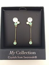 My Collection Earrings --Crystals from Swarovski Diamond Look