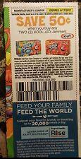 8 coupons to save $.50/2  Kool Aid  jammers   Kraft Heinz  9/17/17