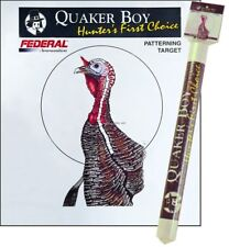 "New Quaker Boy Turkey Pattern Target, 10"" Centering Circle, Rolled, 10Pk 80116"