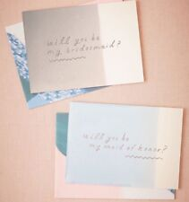 Lot Of 4 Anthropologie BHLD Bridesmaid And Maid Of Honor Cards