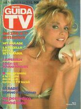 rivista NUOVA GUIDA TV ANNO 1984 NUMERO 34 MARIA GIOVANNA ELMI