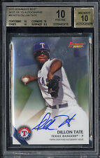2015 Bowman's Best of 15 Autographs Dillon Tate BGS Pristine 10 Auto 10 RC Yanks