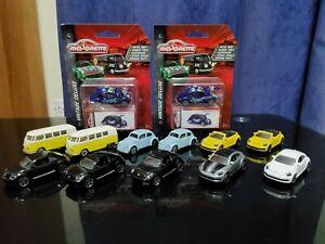 13x Majorette Volkswagen Diecast Cars (11x Loose & 2x Sealed)