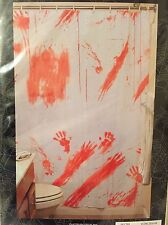 Bloody Shower Curtain Halloween Prop Haunted House Decor Scary Zombie Prank