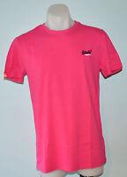 Superdry Mens Printed T - Shirt -  PINK - SIZES - S, L, XL, XXL & XXXL - NEW