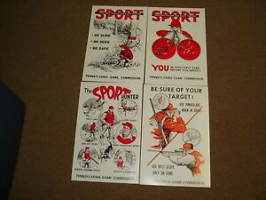 4  PA .Pennsylvania Game Commission Sport Posters