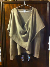 STYLISH DESIGN STUDIO TAN PULL OVER/SHAWL SIZE: ONE SIZE FITS ALL NEAR NEW