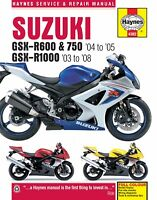 Suzuki GSXR600 GSXR750 GSXR1000 GSXR 600 750 1000 HAYNES REPAIR MANUAL
