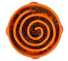 Outward Hound Fun Feeder Orange Dog Gutz Bowl Slow Down Eating Large Size