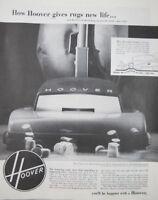 "Hoover Vacuum 1952 10"" x 13"" Print Ad"