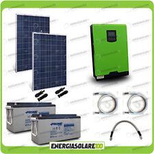 Kit solare fotovoltaico 560W Inverter Edison30 3KW 24V PWM Batterie AGM