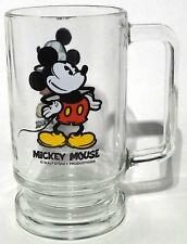 Mickey Mouse Glass Mug 14 oz Walt Disney Productions Image on Both Sides Of Cup