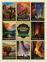 Americanflat Jigsaw Puzzle Game Educational Adults Kids National Parks 3 500 PC