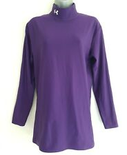 UNDER ARMOUR Cold Gear Women's Purple Stretchy Long Sleeve High Neck Top. Large.