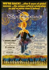 Riverdance Mini-Poster Signed Edinburgh Playhouse 2002